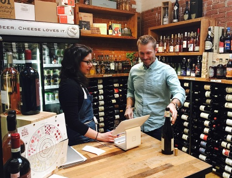 ariana-checking-out-a-new-wine-in-the-wine-shop-at-cured-with-distributor