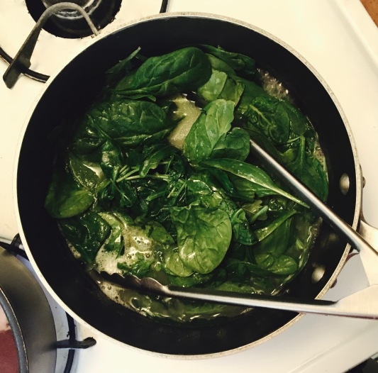 braising-spinach-and-arugula